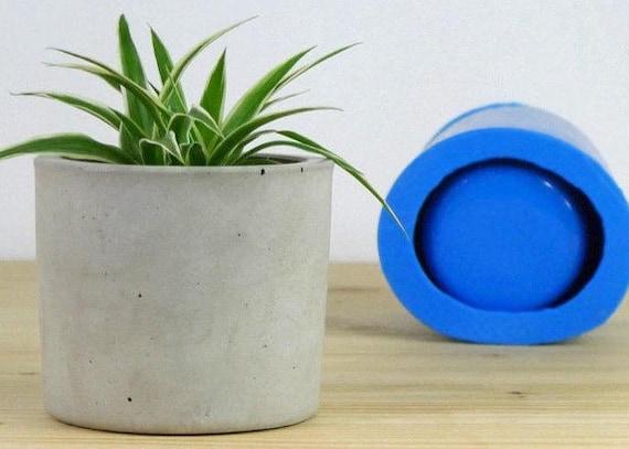 Silicone Mold For Concrete Planter Big Concrete Flower Pot Etsy