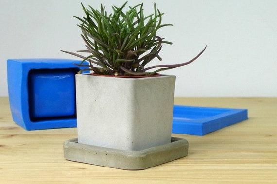 Concrete Planter Silicone Mold Concrete Flower Pot Mould Etsy