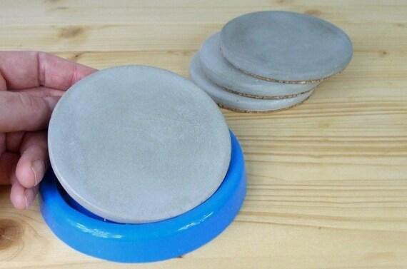 Moule en béton, moule en silicone pour béton, moule de coulée de résine,  sous-verre de résine d\'Epoxy, moule rond brillant de silicone, résine ...