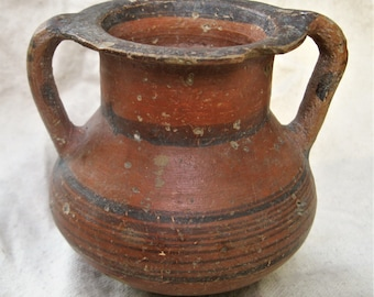 Cypriot Black on Red Ware Pottery Amphora, 750-600 BC