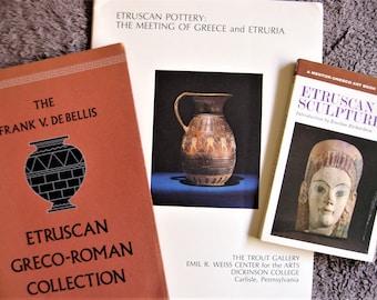Three Books - Etruscan Art - Etruscan Antiquities - Greco-Roman Antiquities