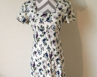 Vintage 90's long floral dress/All That Jazz dress