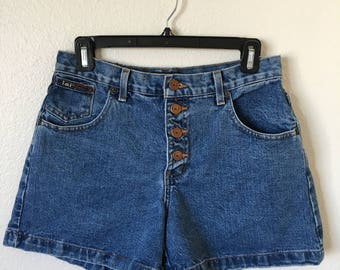Vintage 90's denim short shorts