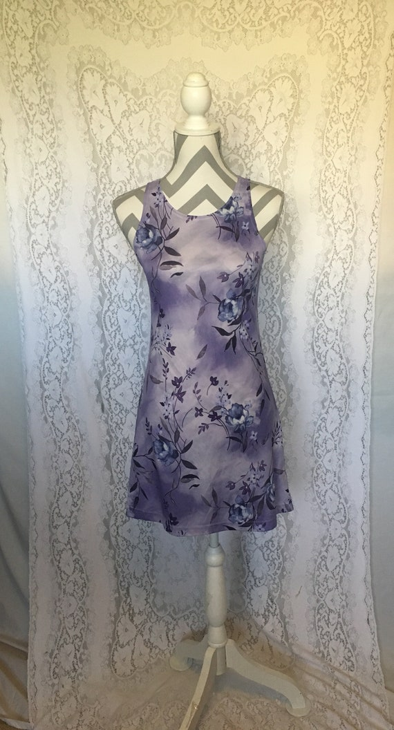 Purple Mini Dress Tank