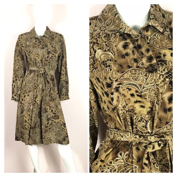 Black and Brown Cheetah Print Maxi Dress Leopard Sleeveless Long Dress Animal Print Woman/'s Vintage 90/'s Plus Size 14 Boho Hippie Faux Suede
