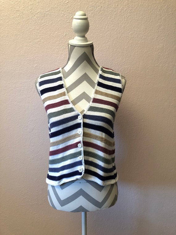 5ed9f8fd0 90s striped sweater vest vintage 90s vest 90s striped vest 90s