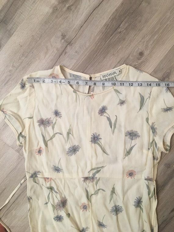 90s floral dress/long flowy dress/ cottagecore fa… - image 4