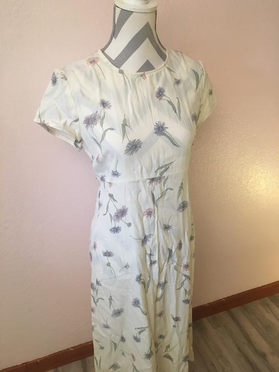 90s floral dress/long flowy dress/ cottagecore fa… - image 2