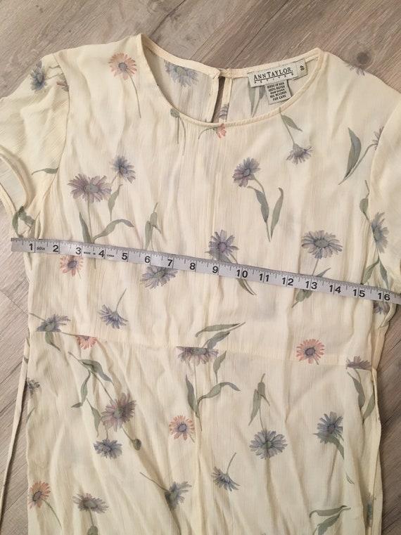 90s floral dress/long flowy dress/ cottagecore fa… - image 5