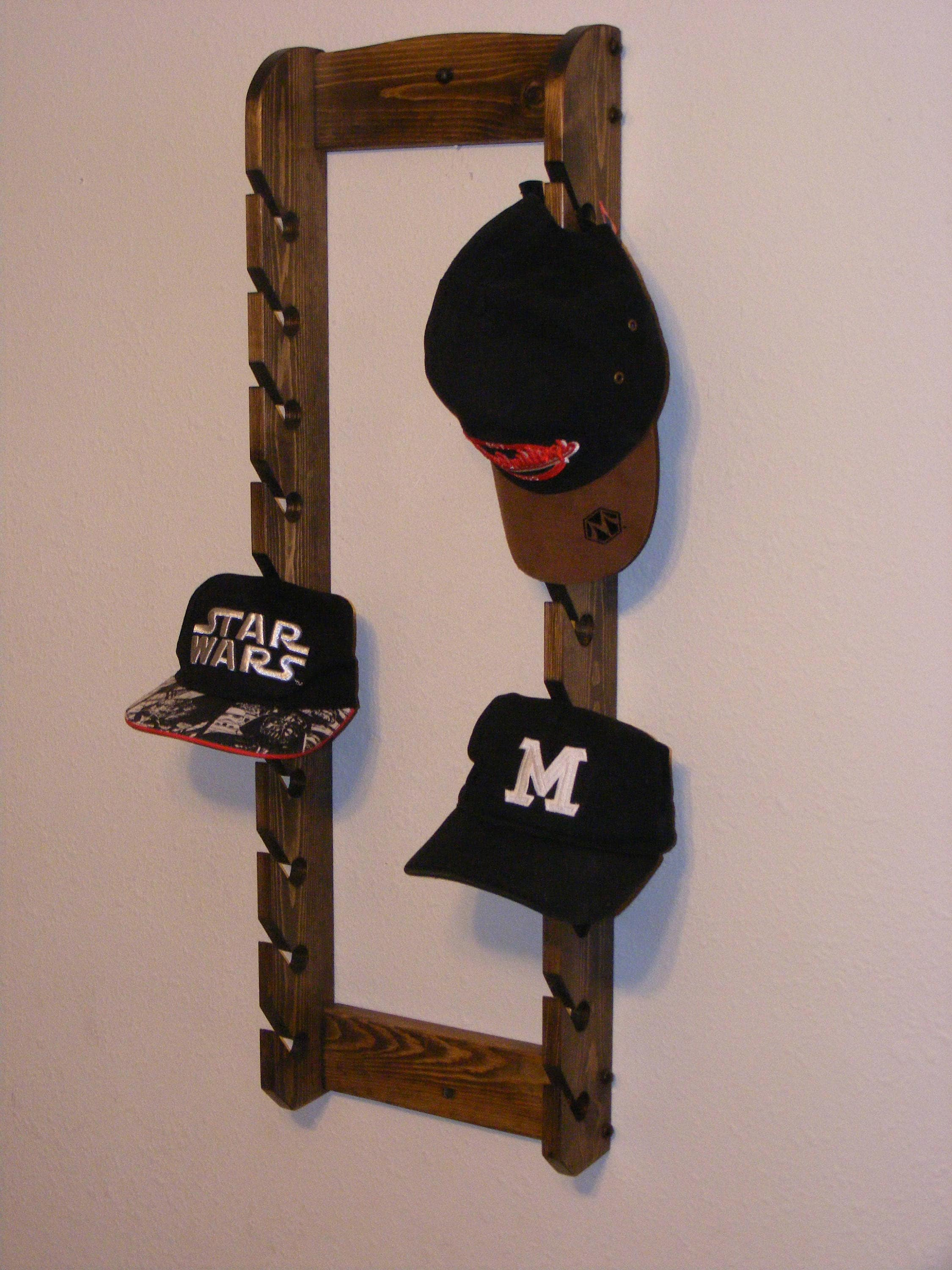 I Need Ideas For Decorating My Living Room: Double Cap Rack/Hat Rack/cap Organizer/hanging Hat Rack