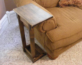 Rustic Sofa arm rest table