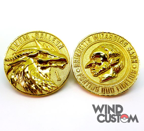 Harry Potter Gold Coin One Galleon Designed And Minted By