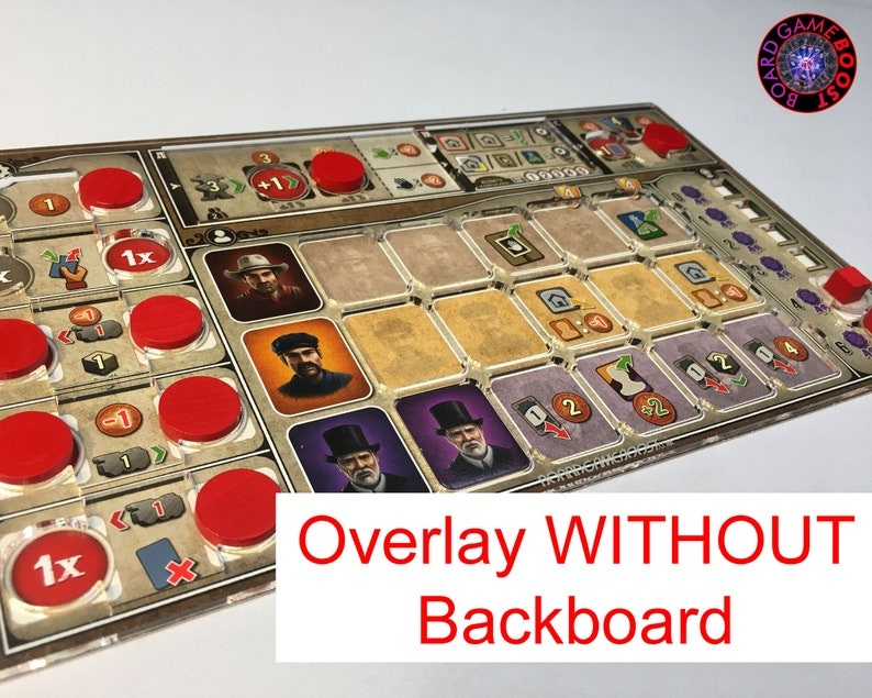 Great Western Trail BASE GAME Player Mat Overlay ONLY no image 0