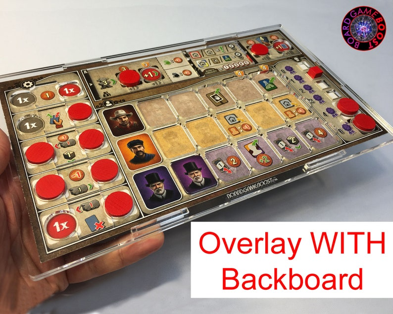 Great Western Trail BASE GAME Player Mat Overlay WITH image 0