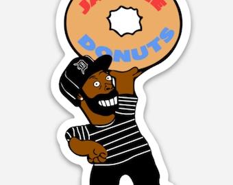 J Dilla hairclip  hip hop  dj  90/'s hip hop  music  gift for her  slum village  Jay Dee  Donuts  Jaylib  Soulquarians