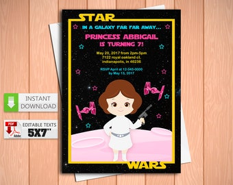 Princess Leia Invite