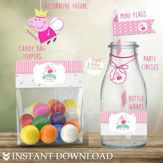 Kit Imprimible Peppa Pig Hada Decoración Cumpleaños Niñas Diy Printable Party Peppa Pig Decor Birthday Editalbe Instant Download