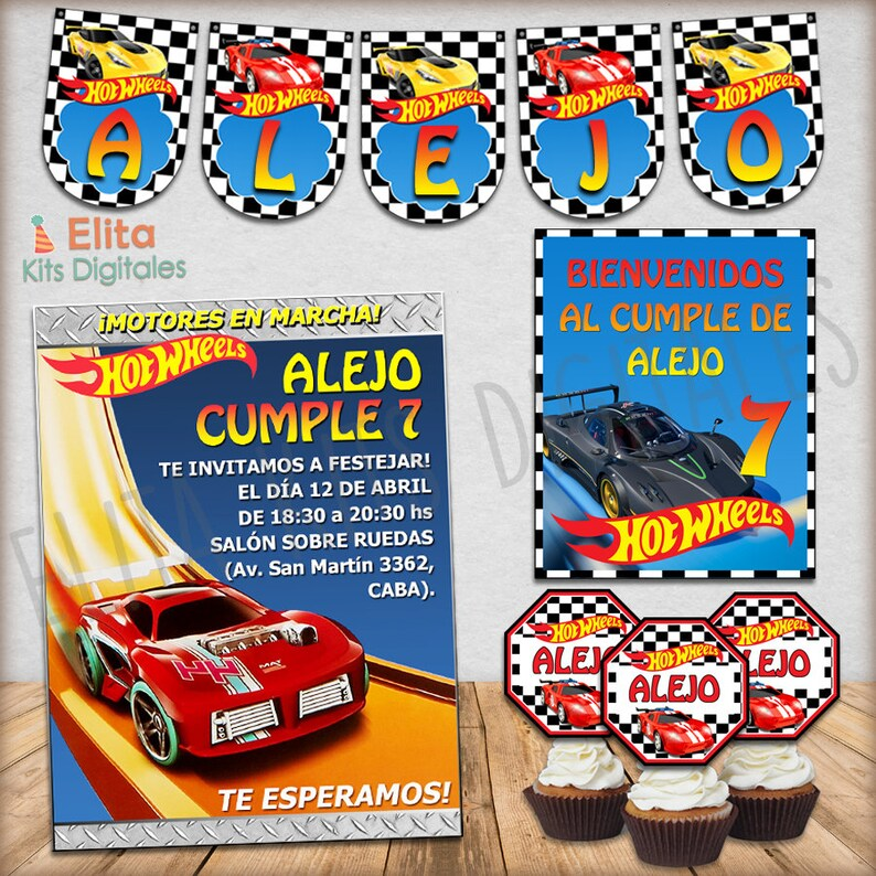 image regarding Hot Wheels Printable named Incredibly hot Wheels printable Package, birthday decoration babys, personalized, invites, cars and trucks, vehicles, racing, jotguils