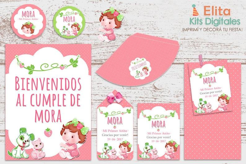 448272b1f Kit imprimible Frutillitas Bebe Decoración Fiestas de | Etsy