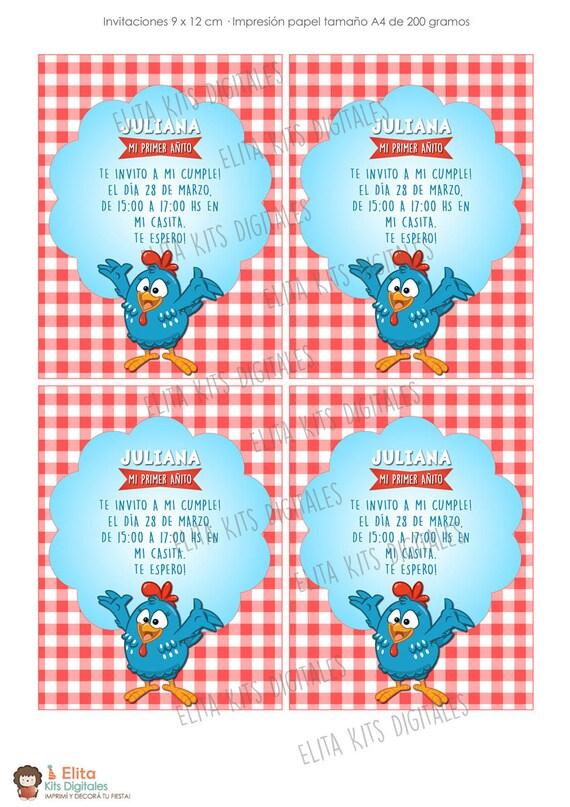 Kit Imprimible La Gallina Pintadita Decoración Candy Bar Cumpleaños Nenes Nenas Personalizado Listo Para Imprmir