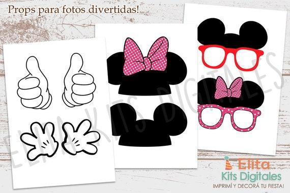 Kit Imprimible Minnie Mouse Decoración Cumpleaños Bautizo Baby Shower Nenas Niñas Invitaciones Bautizo Imprimibles Minnie Mouse Rosa