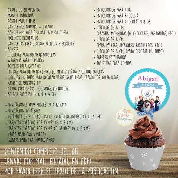 Kit Imprimible Frozen Congelados Decoración Fiestas De Cumpleaños Nenas Niñas Invitaciones Tarjetas Candybar Para Imprimir
