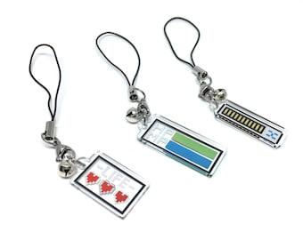 Barre de vie clair acrylique charme | charme de téléphone, charme du jeu vidéo, gamer charme, charme pixel, barre de hp, barre de santé, barre de vie
