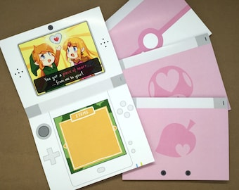 Nintendo Valentine Card   cute valentine card, geek greeting card, gamer valentine, video game card, geek card, gamer greeting card