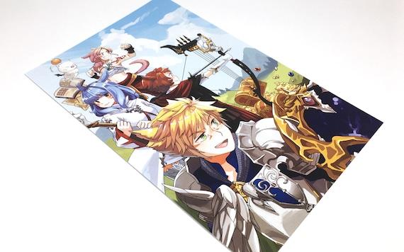 Light Party Ffxiv Final Fantasy Art Final Fantasy Print Video Game Print Anime Print Gamer Gift Small Art Print Small Anime Print