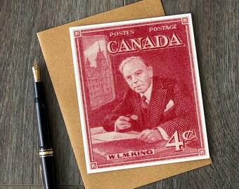 Canadian art prints, Canadian history, Mackenzie King, WLM King, canada birthday card, canadian retirement card, canada christmas cards