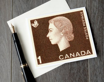 Queen Elizabeth cameo, Queen Elizabeth 2, Queen birthday card, Canada retirement card, Canadian sympathy card, Canada christmas card set