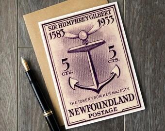 Newfoundland Canada, Newfoundland stamps, newfoundland birthday, newfoundland christmas, christmas cards, birthday cards, retirement cards