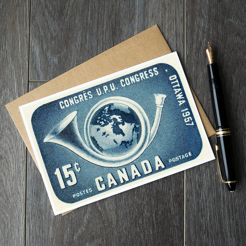 Canada post retirement cards, Canadian stamp birthday cards, philatelist  gift ideas, postage stamp art prints, vintage postcards canada