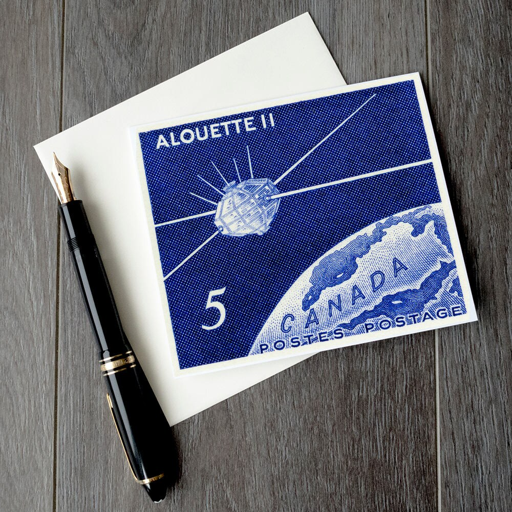 Alouette 2 Canadian Space Birthday Card Canada Space