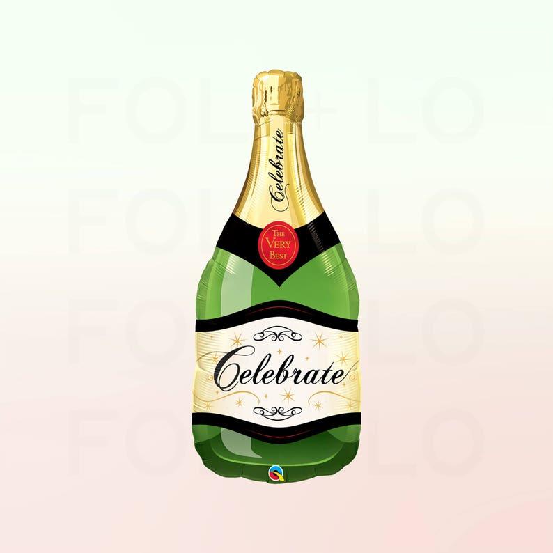 Celebrate Champagne Balloon Bachelor ette Congrats Party Theme Giant Champagne Bottle HUGE 40 Champagne Balloon Balloon