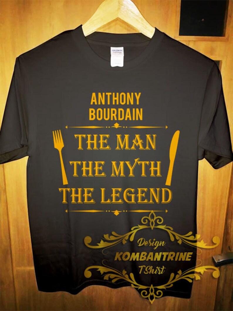 65d4c6bd1 T shirt Anthony Bourdain człowiek mit legenda tee Tony Chef   Etsy
