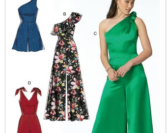 eaa80228893 Sewing Pattern for Misses  Romper and Jumpsuits with Bodice Options