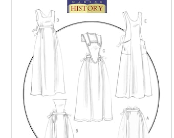 Sewing Pattern for Historical Full-Length & Waist Aprons, Butterick Costume Pattern 5509, Halloween, Cosplay, Costume Aprons, Making History