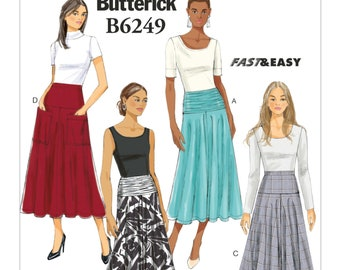 c4e17f80eec Sewing Pattern for Womens A-Line Skirts