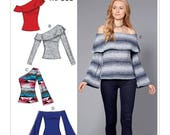 Sewing Pattern for Misses 39 Off-The-Shoulder Knit Tops, McCalls Pattern M7686, New Pattern, Off Shoulder Tops, One Shoulder Top, Women 39 s Tops