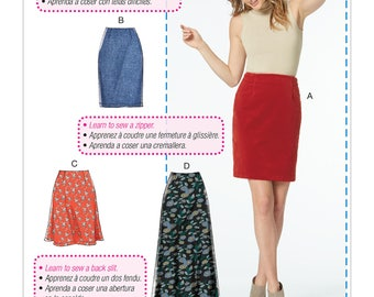 Sewing Pattern for Misses' Skirts in Three Lengths, McCall's Pattern 7631, Womens Plus, Learn to Sew Pattern, Very Easy