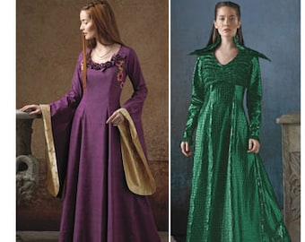 Sewing Pattern Fantasy Costumes Misses, Medieval, European Maiden, Simplicity 1137, Halloween, Lord of the Rings, Game of Thrones