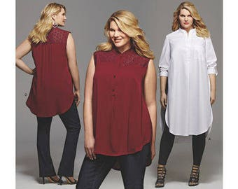 d998333ad87 Sewing Pattern for Misses Womens Plus Size Shirt w  Length   Sleeve  Variations