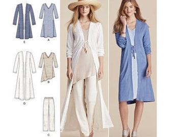8b3bc102f77 Sewing Pattern for Womens Wardrobe Pattern, Simplicity Pattern 8059, New  Pattern, Womens Duster Cardigan, Pants, Tunic & Dress, Plus Sizes