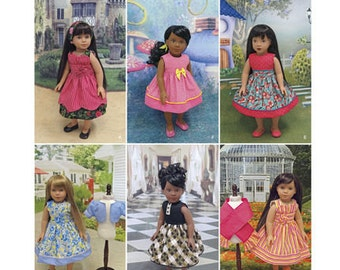 """Sewing Pattern for 18"""" Doll Wardrobe , Simplicity Pattern 1220, Cupcake Cutie Pie Designer Pattern, Doll Clothes Pattern, Doll Dresses"""