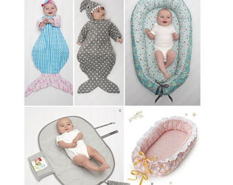 Sewing Pattern For Baby Accessories Simplicity Pattern 8568 New Pattern Baby Nest Swaddle Sack Changing Pad Mermaid Shark Baby Sacks