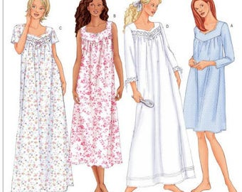 Sewing Pattern for Misses    Misses Petite Diamond-Neck Nightgowns 3190501d0