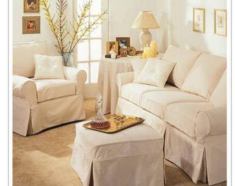 Sewing Pattern For Furniture Slipcovers, Tablecloth And Pillows, McCallu0027s  Pattern M3278, Sofa Slipcovers, Chair Slipcovers, Ottoman Cover