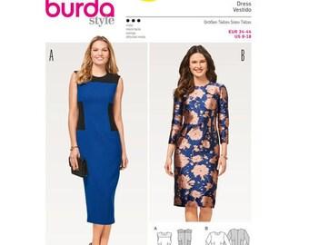 7c76b90f Sewing Pattern for Misses' Sheath Dress, Burda Style Pattern 6450, Women's Dress  Pattern, Fitted Dress