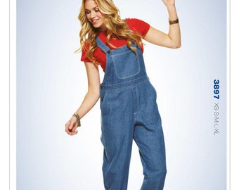 ea992ca5d4 Sewing Pattern for Misses  Patch-Pocket Overalls